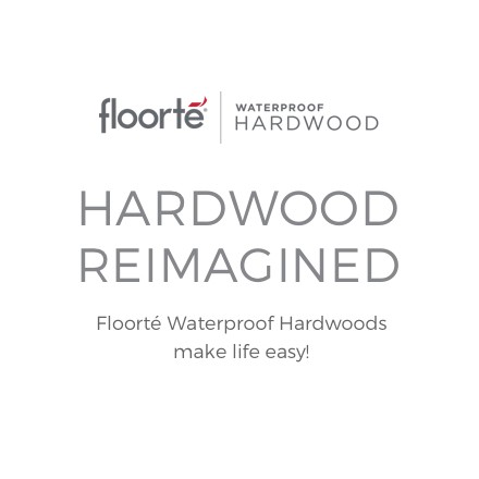 Floorte waterproof hardwood flooring for home | Brandt Carpet and Tile
